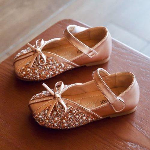 JSKK01-pink Sepatu Sandal Pesta Anak Cewek Cantik Terbaru
