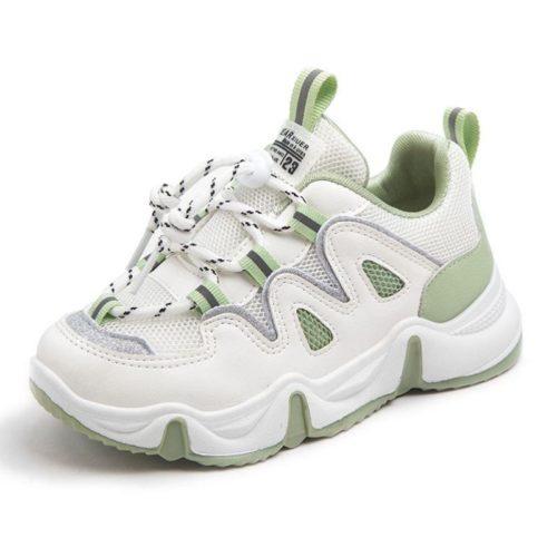 JSKK16-green Sepatu Sneakers Anak Keren Import