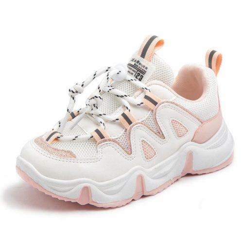 JSKK16-pink Sepatu Sneakers Anak Keren Import
