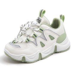 JSKK16X-green Sepatu Sneakers Anak Keren Import (Noda)
