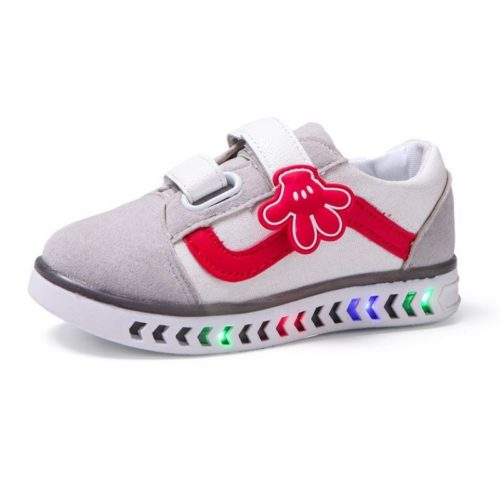 JSKSP1X-white Sepatu Sneakers LED Anak Import Terbaru