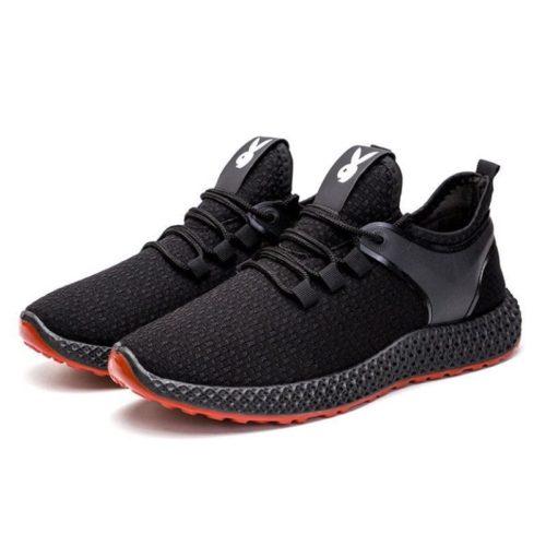 JSS001-black Sepatu Sneakers Pria Modis Import Terbaru