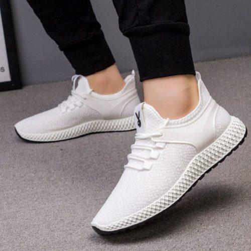 JSS001-white Sepatu Sneakers Pria Modis Import Terbaru