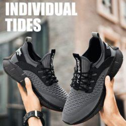 JSS003-gray Sepatu Sneakers Pria Keren Import Terbaru