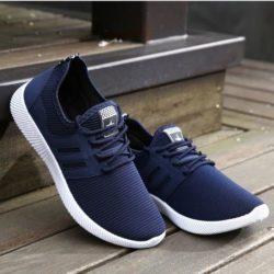 JSS004-blue Sepatu Casual Pria Modis Terbaru Import