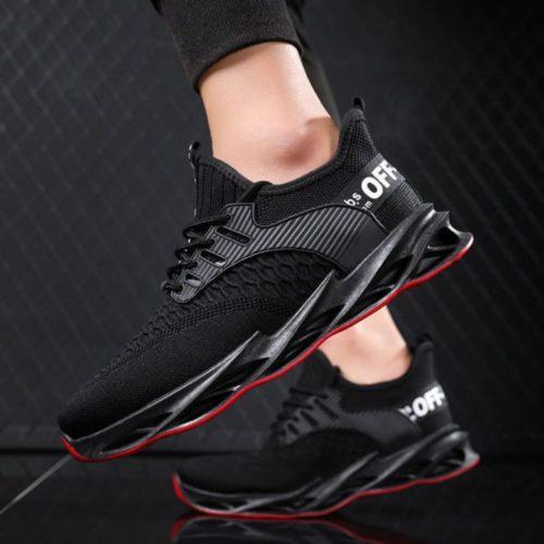 JSS007-black Sepatu Sneakers Pria Keren Import Terbaru