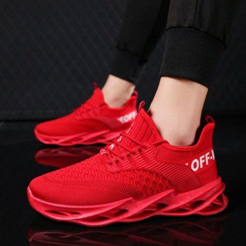 JSS007-red Sepatu Sneakers Pria Keren Import Terbaru