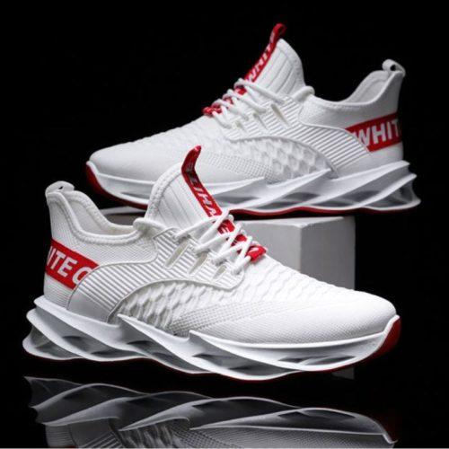 JSS007-white Sepatu Sneakers Pria Keren Import Terbaru