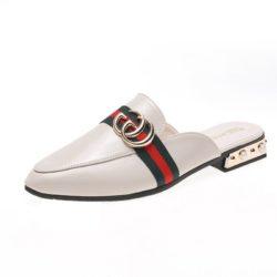 JSS0920-white Sandal Import Wanita Cantik Elegan 3CM