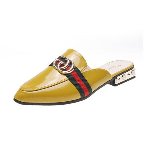 JSS0920-yellow Sandal Import Wanita Cantik Elegan 3CM