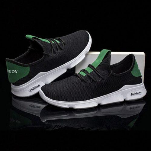 JSS1102-blackgreen Sepatu Running Pria Sporty Import