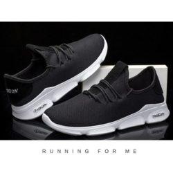 JSS1102-black Sepatu Running Pria Sporty Import