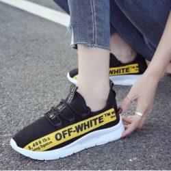 JSS130-black Sepatu Sneakers Wanita Cantik Import