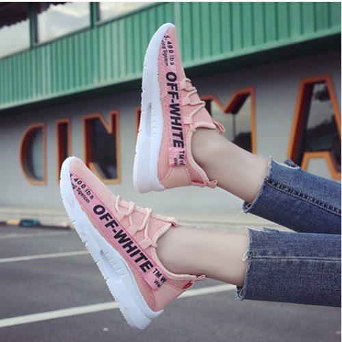 JSS130-pink Sepatu Sneakers Wanita Cantik Import