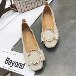 JSS1386-beige Sepatu Flat Wanita Cantik Import Terbaru