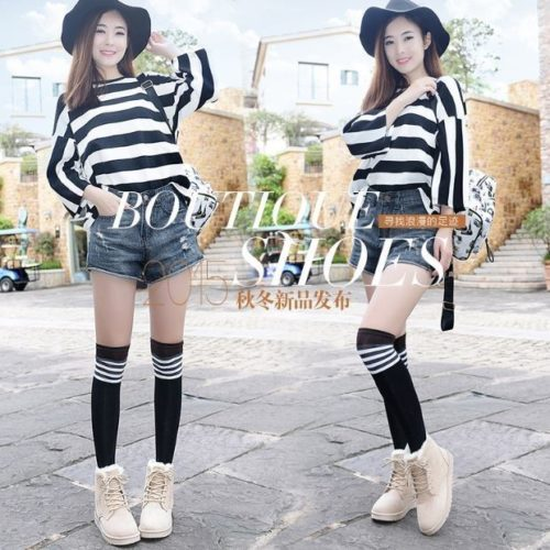 JSS1515-khaki Sepatu Fashion Wanita Cantik Import