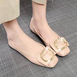 JSS187-pink Flat Shoes Wanita Cantik Import