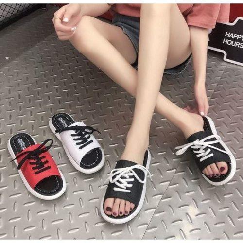 JSS1902-black Sandal Wanita Cantik Import Terbaru