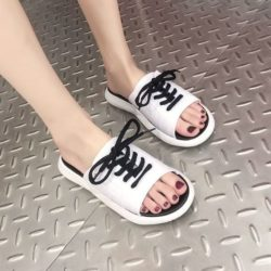 JSS1902-white Sandal Wanita Cantik Import Terbaru