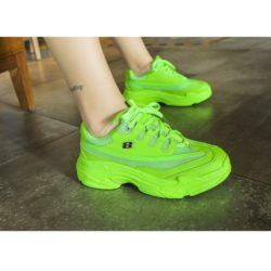 JSS1919-green Sepatu Sneakers Sport Wanita Cantik Import (Noda)