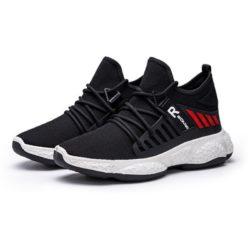 JSS192-black Sepatu Sneakers Sport Pria Modis Keren