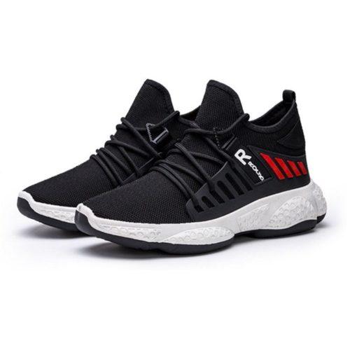 JSS192-black Sepatu Sneakers Pria Keren Import Terbaru