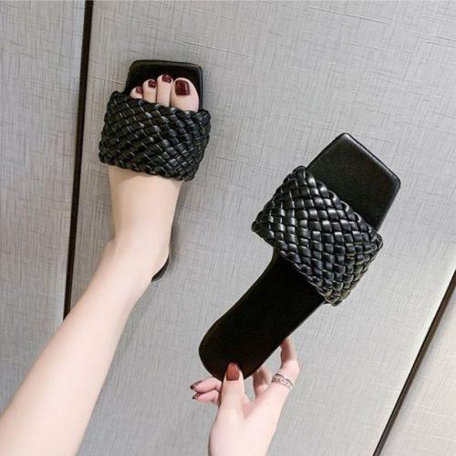 JSS2020-black Sandal Comfy Wanita Cantik Import Terbaru