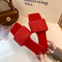 JSS2020-red Sandal Comfy Wanita Cantik Import Terbaru