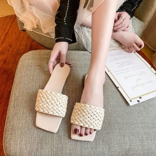 JSS2020-white Sandal Comfy Wanita Cantik Import Terbaru