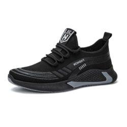 JSS211-black Sepatu Sneakers Pria Modis Import Terbaru