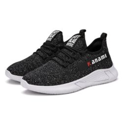 JSS215-black Sepatu Sneakers Fashion Pria Terbaru Import