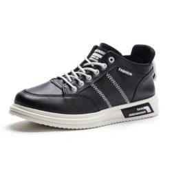 JSS2177-black Sepatu Sneakers Pria Modis Import Terbaru