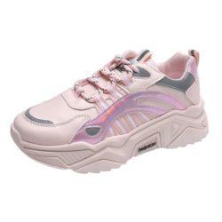 JSS230-pink Sepatu Sneakers Sport Wanita Cantik Import