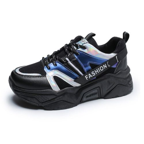 JSS235-black Sepatu Sneakers Wanita Cantik Import Terbaru