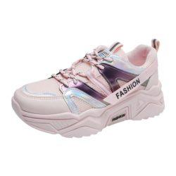 JSS235-pink Sepatu Sneakers Wanita Cantik Import Terbaru