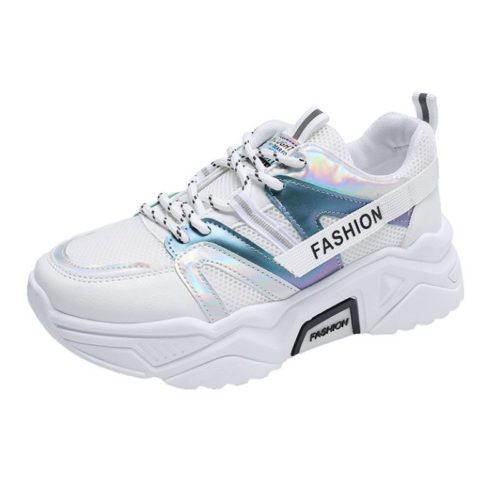 JSS235-white Sepatu Sneakers Wanita Cantik Import Terbaru