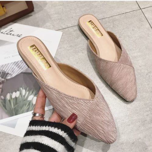 JSS2352-pink Sandal Slip On Wanita Cantik Import Elegan