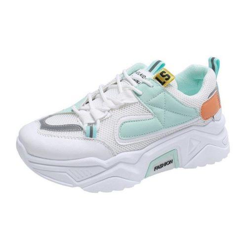 JSS236-green Sepatu Sneakers Wanita Keren Import Terbaru