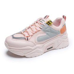 JSS236-pink Sepatu Sneakers Wanita Keren Import Terbaru