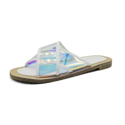 JSS25992-white Sandal Flat Fashion Wanita Cantik Import