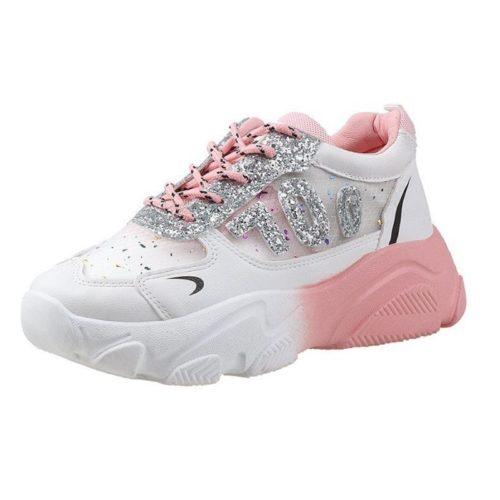 JSS3070-pink Sepatu Sneaker Wanita Cantik Terbaru Import