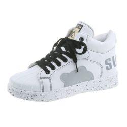 JSS3221-gray Sepatu Sneakers Flat Fashion Wanita Cantik Terbaru