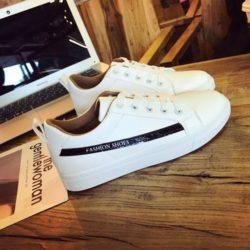 JSS333-black Sepatu Sneakers Wanita Cantik Import