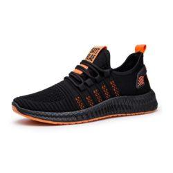JSS345-orange Sepatu Sneakers Pria Modis Import Terbaru