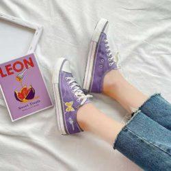 JSS3936-purple Sepatu Sneakers Flat Wanita Cantik Import