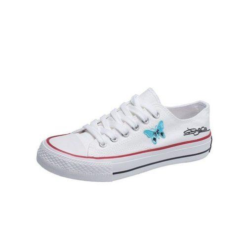 JSS3936-white Sepatu Sneakers Flat Wanita Cantik Import