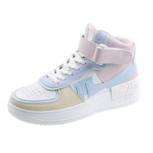 JSS508-blue Sepatu Sneakers Wanita Cantik Import Modis