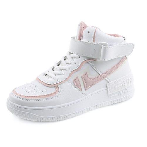 JSS508-pink Sepatu Sneakers Wanita Cantik Import Modis