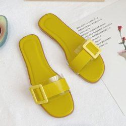 JSS5555-lemon Sandal Flat Casual Wanita Cantik Import