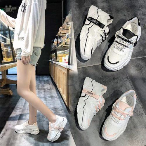 JSS5575-pink Sepatu Fashion Sport Wanita Cantik Import